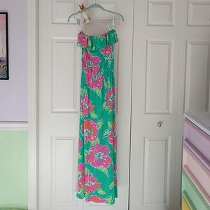 Amy strapless maxi dress by Lilly Pulitzer